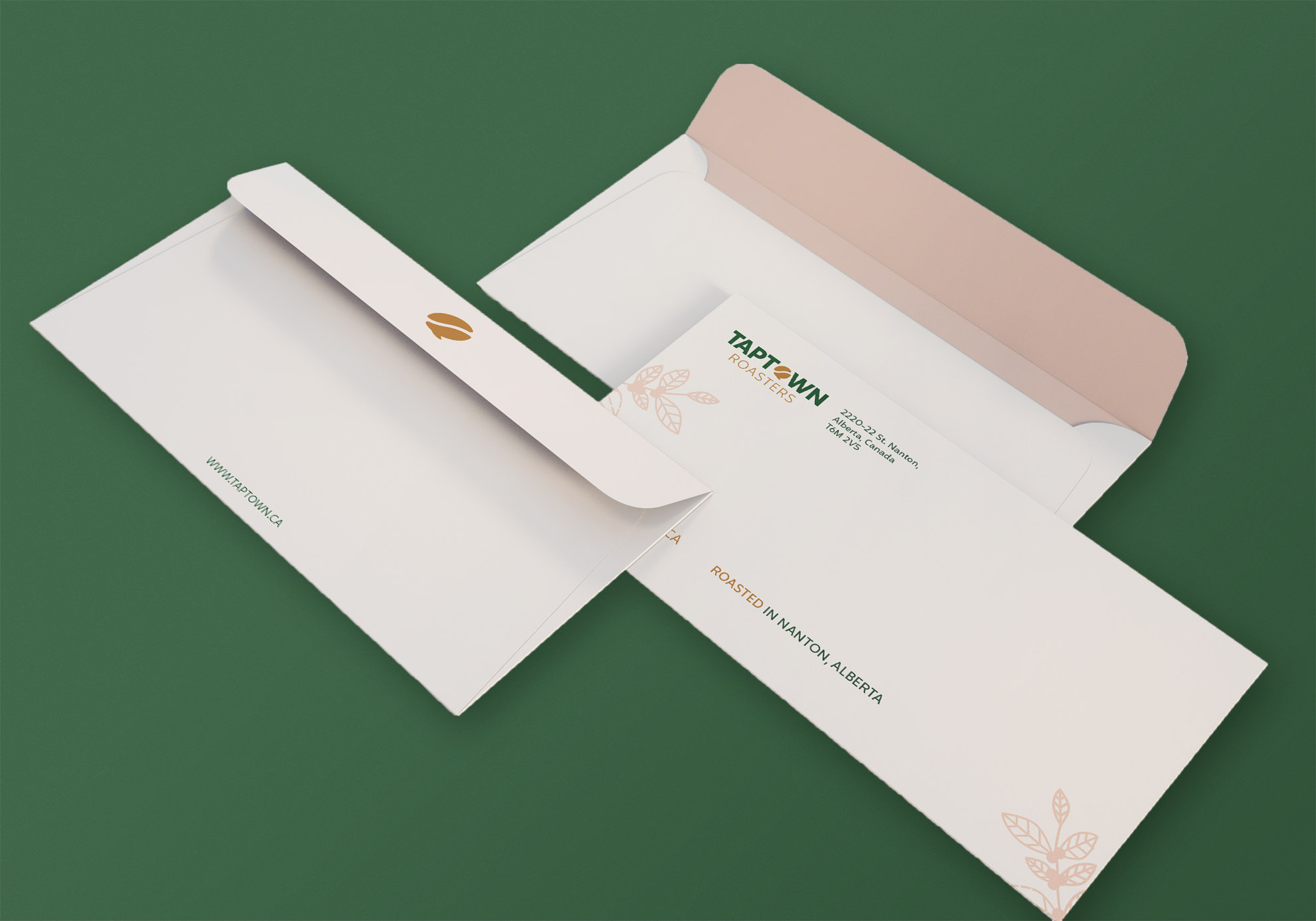 Clean White Office Envelope Mockup Pink Background